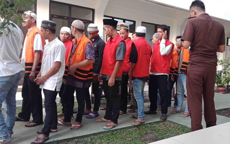 Suasana di Pengadilan Negeri Sampit.