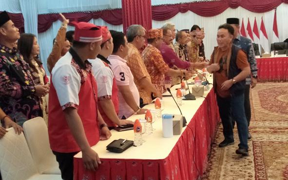 Temu ramah dan silaturahim digelar di Istana Isen Mulang, Kota Palangka Raya, Sabtu, 3 Agustus 2019 malam.