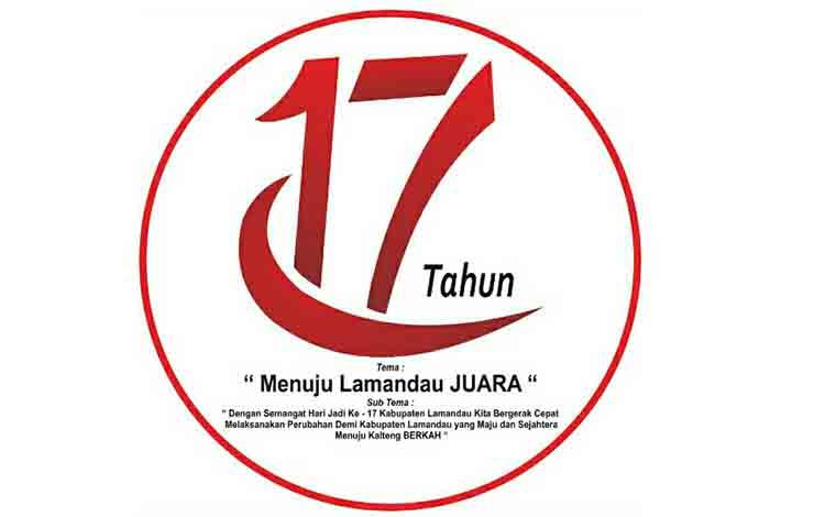 Logo resmi HUT ke -17 Kabupaten Lamandau.