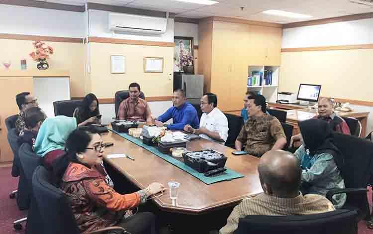 Jajaran Komisi III DPRD Kapuas saat konsultasi ke Kementerian Kominfo di Jakarta pada Selasa, 6 Agustus 2019