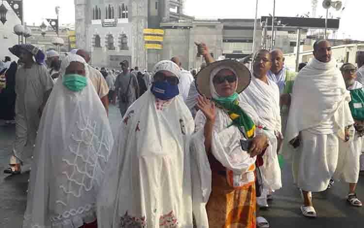 Jemaah asal Kobar yang berada di Mekkah