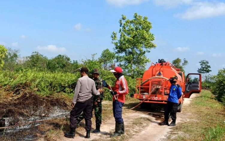 Kebakaran lahan yang terjadi di Kabupaten Kotawaringin Timur.