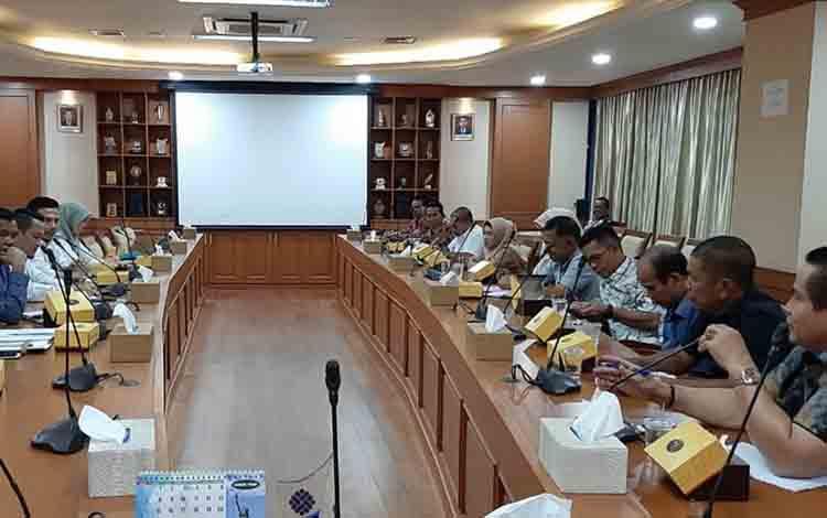 Jajaran Komisi IV DPRD Kapuas saat berkonsultasi di Kementerian Ketenagakerjaan RI di Jakarta, Selasa, 6 Agustus 2019