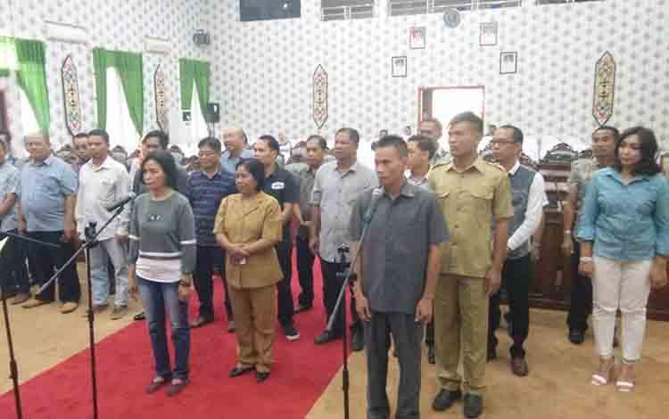 Sebanyak 25 calon anggota DPRD Katingan gladi bersih sebagai persiapan pelantikan.