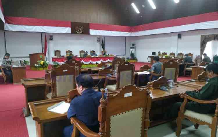 Sidang Paripurna DPRD Pulang Pisau, Senin, 12 Agustus 2019.
