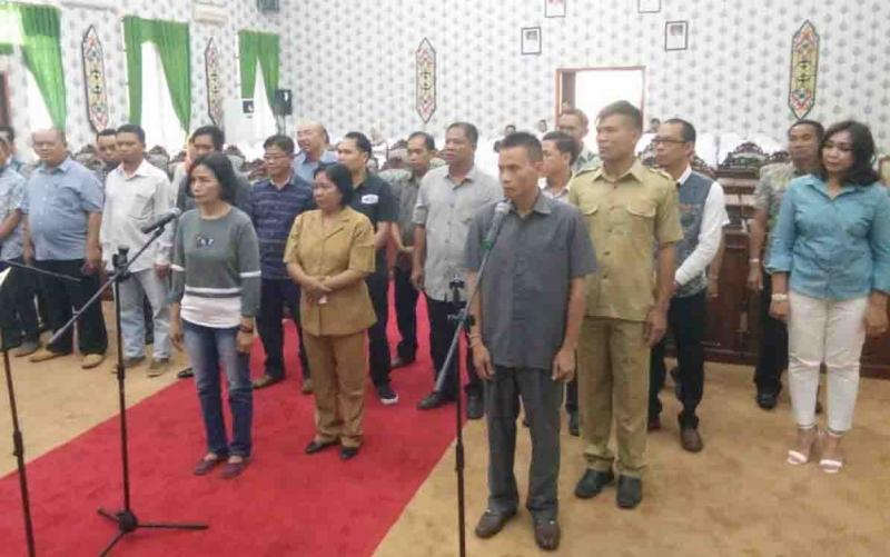 Gladi pelantikan anggota DPRD Katingan periode 2019 - 2024.