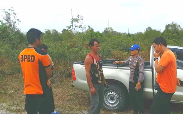 Tim terpadu karhutla lakukan koordinasi pengecekan titik panas di wilayah Kecamatan Mantangai, Rabu,