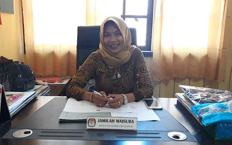 Ketua KPU Kapuas, Jamilah Maisura