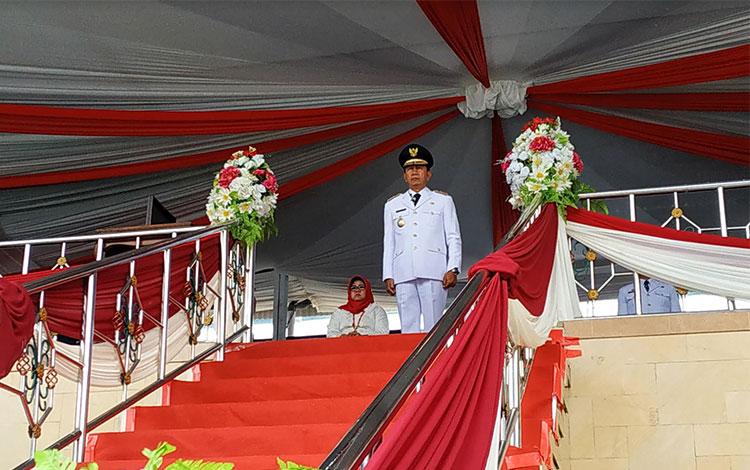 Pelaksanaan upacara peringatan Hari Kemerdekaan ke 74 Republik Indonesia di Kabupaten Barito Utara,