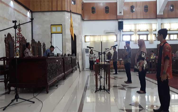 Suasana gladi kotor pelantikan anggota DPRD Kapuas