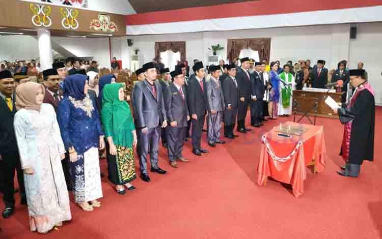 Pelantikan Anggota DPRD Pulang Pisau periode 2019-2024.