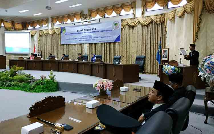 Pelantikan anggota DPRD Kabupaten Barito Utara.