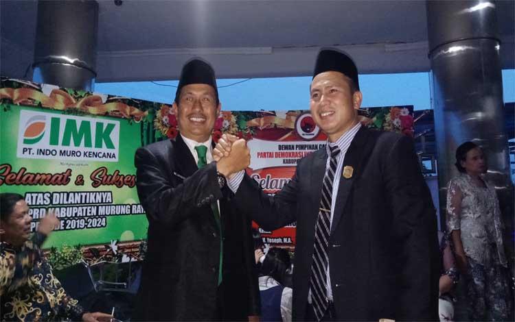 Wakil Bipati Murung Raya Rejikinoor bersama anggota DPRD Susilo