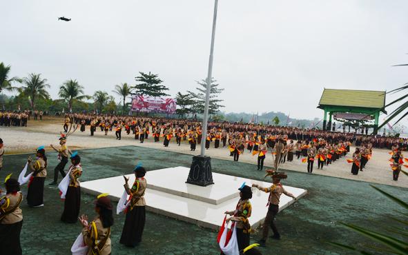 Kemah Bhakti Hari Pramuka yang ke - 58 di Bumi Perkemahan (Buper) Panglima Bat
