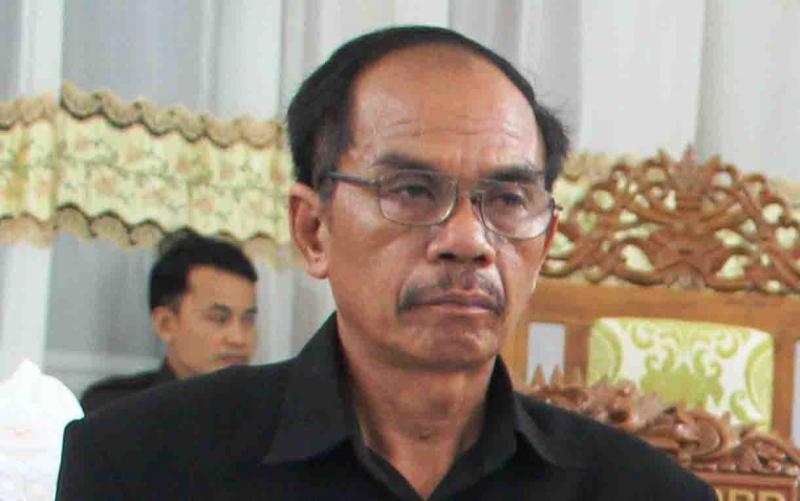 Ketua Sementara DPRD Gunung Mas, Gumer.