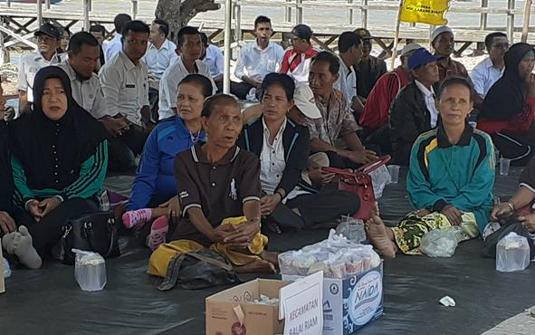 Para lansia saat mengikuti peringatan Hari Lanjut Usia yang ke -23, Rabu, 21 Agustus 2019.