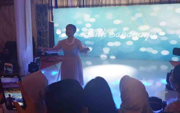 Ruth Sahanaya tampil dalam resepsi pernikahan Jery - Natasha, Sabtu, 24 Agustus 2019.