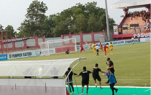 Kalteng Putra membalikan kedudukan menjadi 3-2 atas Bhayangkara FC di Stadion Tuah Pahoe Palangka Raya, Minggu, 25 Agustus 2019.