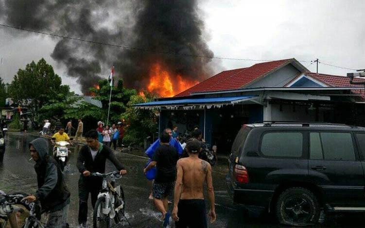 Kebakaran di Komplek Perumahan X, Jalan Pelita Buntok