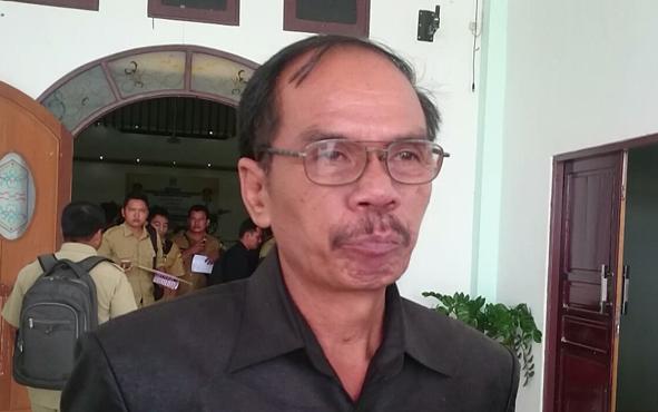 Ketua Sementara DPRD Kabupaten Gunung Mas, Gumer.