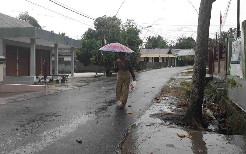 Hujan yang mengguyur Pangkalan Bun, Selasa, 27 Agustus 2019 pagi.