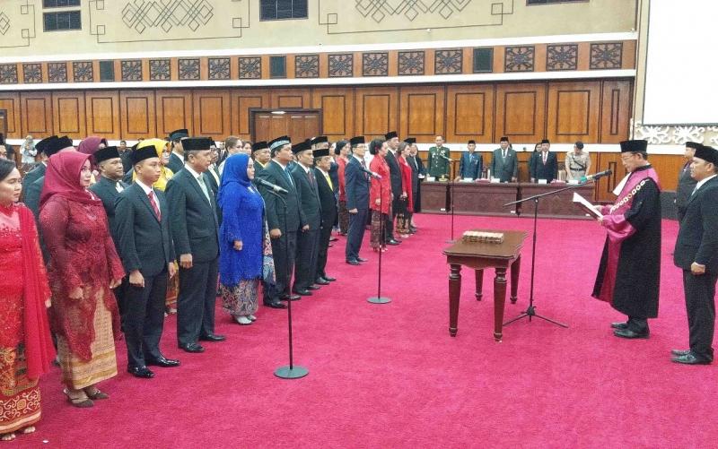 Pelantikan anggota DPRD Kalteng periode 2019 - 2024