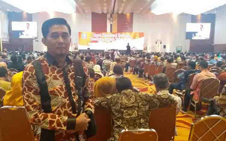 Direktur BUMD Kotim Sidi Ihsan Nur saat menghadiri  Rapat Koordinasi Nasional Keuangan Daerah yang diselenggarakan Kementerian Dalam Negeri di Jakarta pada Rabu, 28 Agustus 2019.