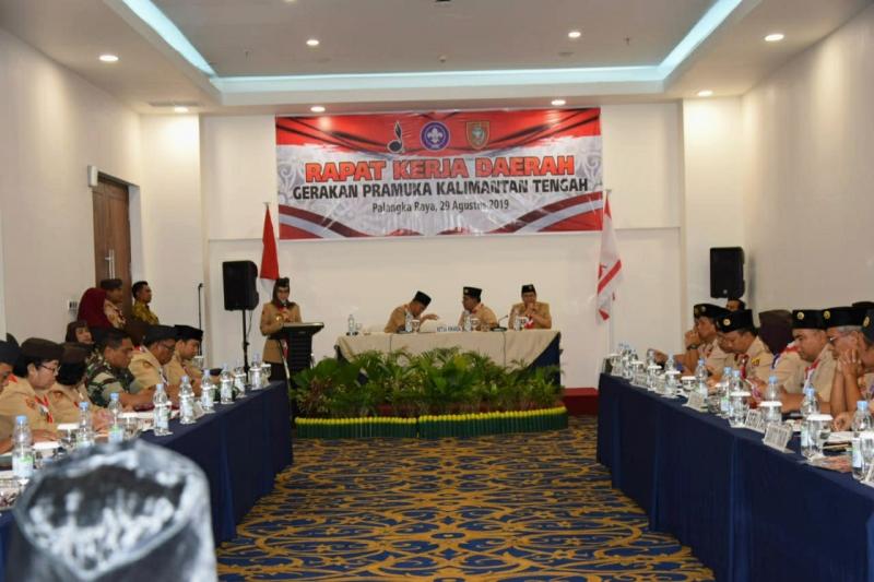 Rapat Kerja Daerah Gerakan Pramuka Digelar di Palangka Raya, Kamis, 29 Agustus 2019.
