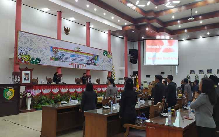 Rapat paripurna penetapan fraksi pendukung DPRD Kota Palangka Raya periode 2019-2024, Senin, 2 September 2019.