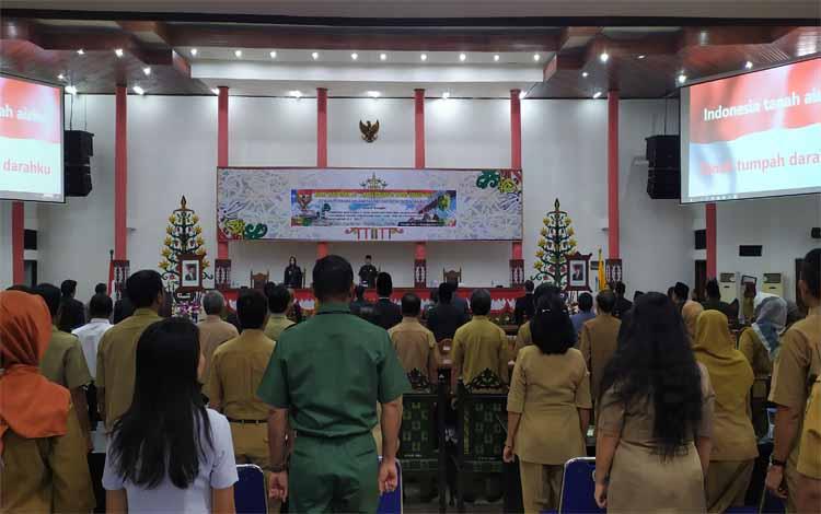 Rapat paripurna DPRD Kota Palangka Raya masa sidang III dengan agenda pembukaan masa sidang, Senin 2 September 2019