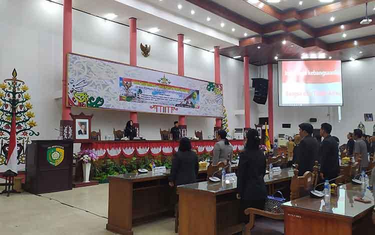 Rapat paripurna DPRD Kota Palangka Raya masa sidang III, Senin, 2 September 2019. Dalam rapat itu, DPRD Palangka Raya mengejar penyelesaian unsur pimpinan dan pembentukan peraturan daerah.