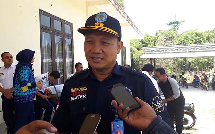 Kepala BNN Kobar I Wayan Korna ajak lintas sektor atasi peredaran Narkoba, di Gedung Teknik UPBU Iskandar, Selasa, 3 September 2019.