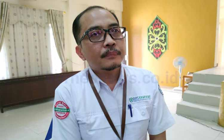 Kepala BPJS Kesehatan Cabang Palangka Raya, M Masrur Ridwan saat diwawancarai terkait semua kepala desa dan lurah di Pulang Pisau harus menjadi peserta JKN - KIS