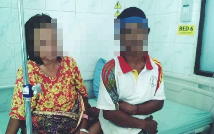 Tersangka penculik bayi,  Wat saat dirawat di RSUD dokter Doris Sylvanus Palangka Raya, Selasa  10 September 2019.