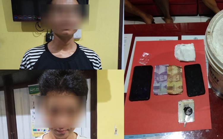Polisi bekuk 2 lelaki karena kedapatan simpan sabu di Kuala Kapuas, Senin malam, 9 September 2019.