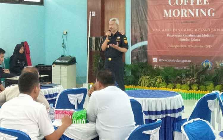 Bea Cukai Pulang Pisau melakukan penyuluhan penyalanan kepabeanan kepada sejumlah instansi terkait pada Rabu, 11 September 2019.