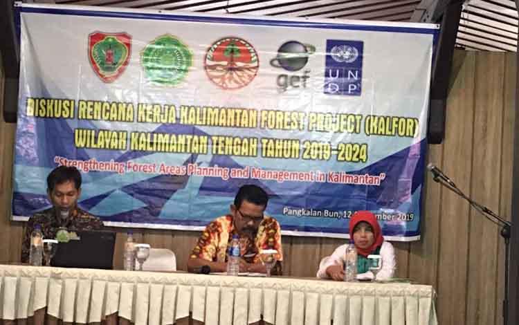 Diskusi program kerja terkait terpilihnya Kabupaten Kobar  menjadi Site Project Kalfor Wilayah Kalteng 2019 - 2024, di Hotel Arsela, Pangkalan Bun, Kamis, 12, September 2019.