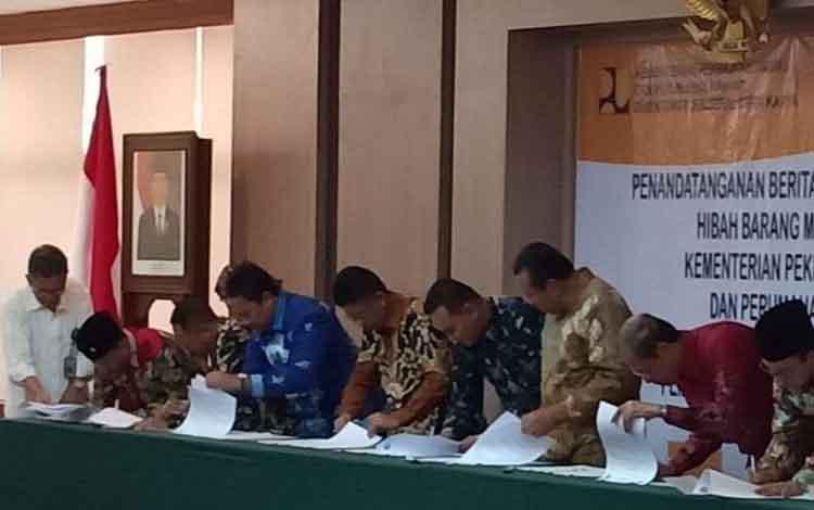 Wakil Bupati Sukamara H Ahmadi berterimakasih atas bantuan yang telah diberikan pemerintah pusat, Kamis, 12 September 2019.