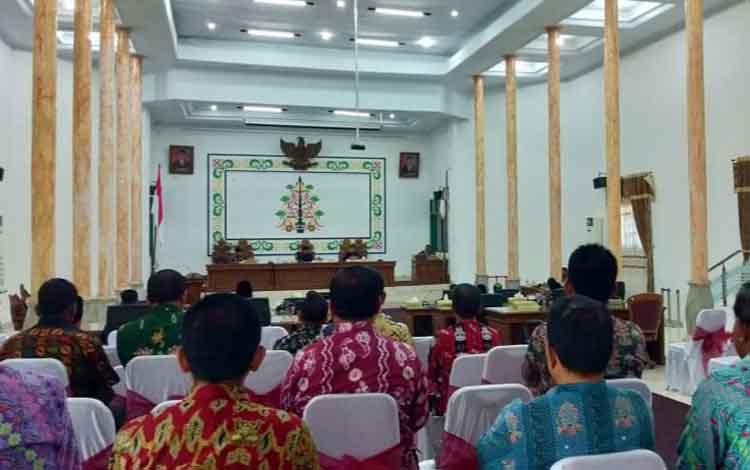 DPRD Sukamara saat menggelar rapat paripurna pengusulan nama unsur pimpinan definitif, Kamis, 12 September 2019. Adapun nama itu akan diusulkan ke Gubernur Kalteng.