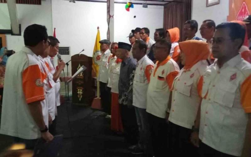 Aliansyah Noor dikukuhkan usai terpilih jadi Ketua ORARI Lokal Kapuas hasil Musyawarah Lokal XI, Sabtu, 14 September 2019 malam.