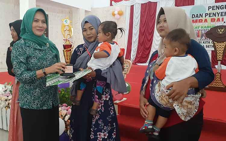 Lomba Balita Indonesia diharapkan mampu memotivasi ibu maulun balita untuk memelihara kesehatan, Selasa, 17 September 2019.