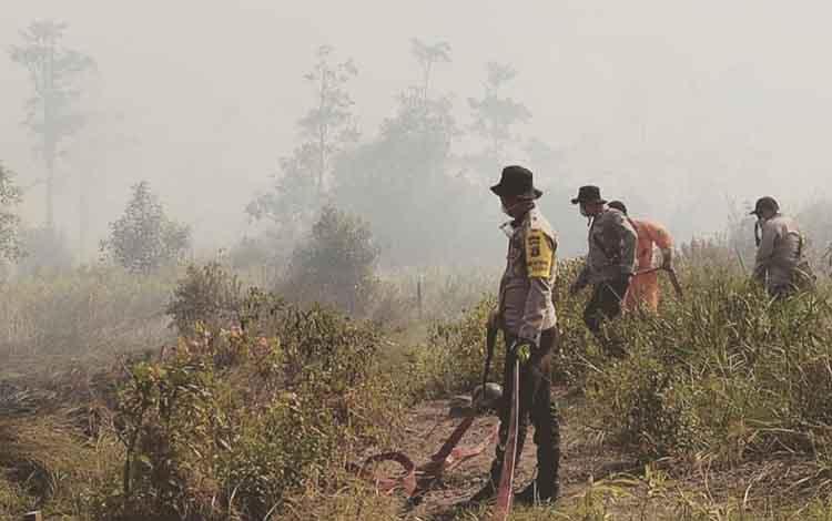 Luas lahan yang terbakar di Kabupaten Sukamara selama Januari hingga September 2019 tercatat lebih dari ratusan hektare.