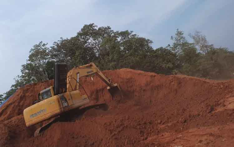 Lokasi galian C ilegal di Tumbang Kalang, Kecamatan Antang Kalang yang kini berproses secara hukum.