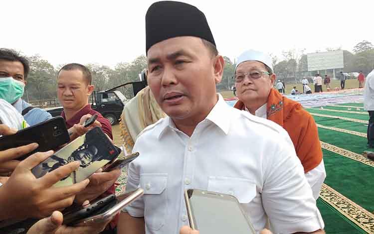 Gubernur Kalteng Sugianto Sabran menyampaikan sudah menandatangani status tanggap darurat Karhutla, Rabu, 18 September 2019.