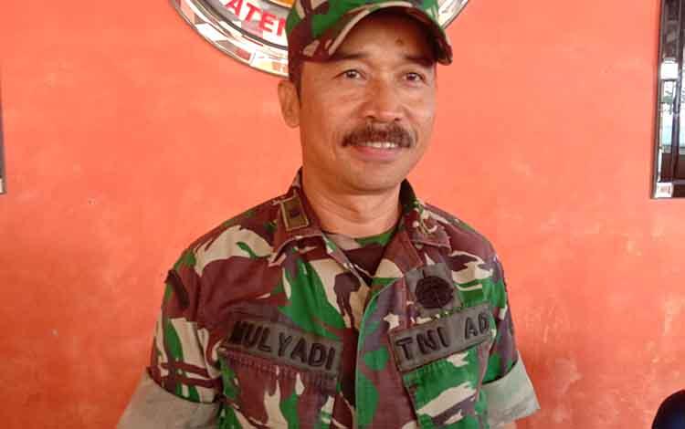 IC Karhutla Kabupaten Pulang Pisau, Mayor Inf Mulyadi mengatakan titik hotspot berkurang akibat hujan dan pemadaman yang dilakukan pihaknya, Jumat, 27 September 2019.