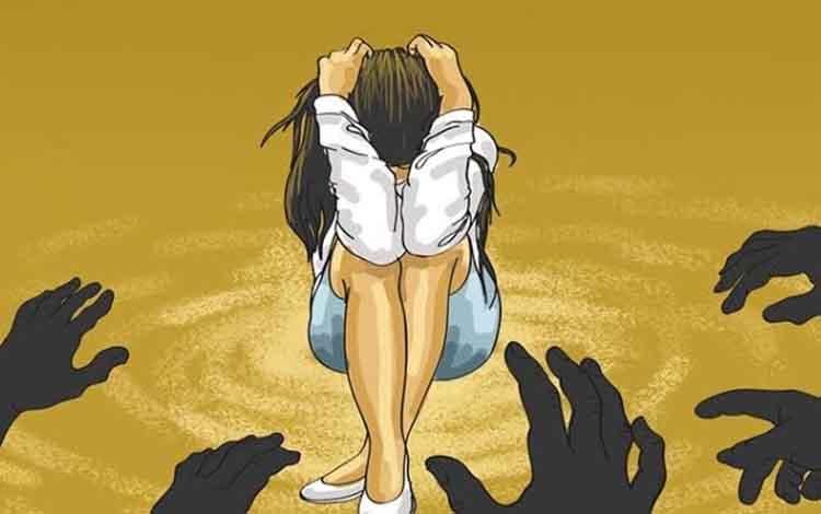 Ilustrasi. Seorang gadis 14 tahun di Murung Raya tepergok oleh ayahnya sendiri saat disetubuhi oleh 4 pemuda di kebun karet.