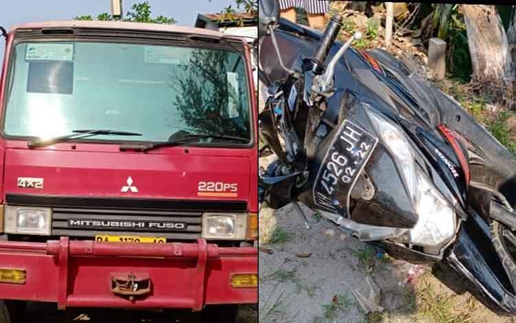 Mahasiswa Universitas Muhammadiyah Palangka Raya meninggal dunia terlindas truk tangki di Jabiren. Dua kendaraan yang terlibat tabrakan dalam peristiwa tersebut.
