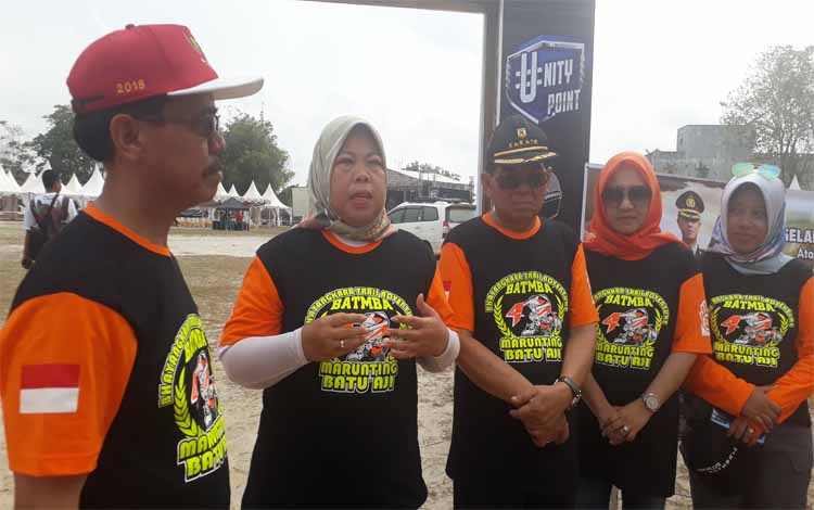 Bupati Kobar, Nurhidayah menyampaikan event Bhayangkara Adventure Trail Marunting Batu Aji (BATMBA) ke 4 merupakan sebagai ajang promosi wisata