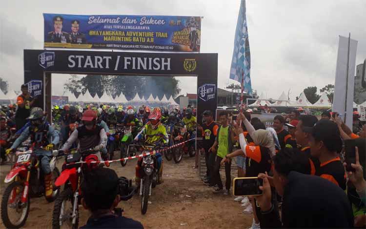 Rider Bhayangkara Adventure Trail Marunting Batu Aji