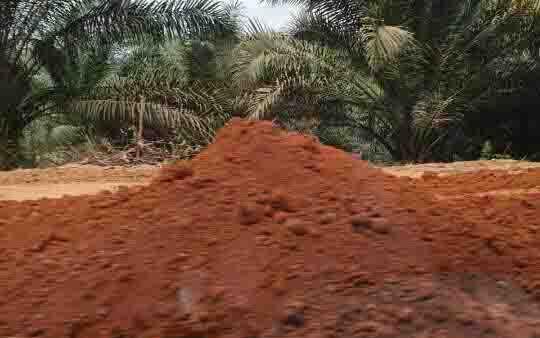 Lokasi galian C yang diduga ilegal di Kecamatan  Antang Kalang. Polisi menangani kasus illegal mining dan menetapkan satu orang tersangka.